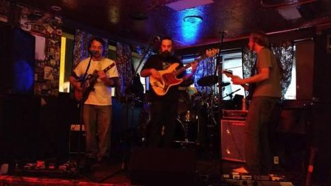 Switch Ghost live at the Lion's Lair (left to right: Michael Wright, Joseph Damron, Brandt Garrison, Jasper Niemeyer)