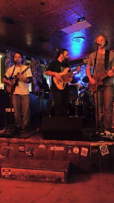 Switch Ghost live at the Lion's Lair (left to right: Michael Wright, Joseph Damron, Jasper Niemeyer, hidden: Brandt Garrison)