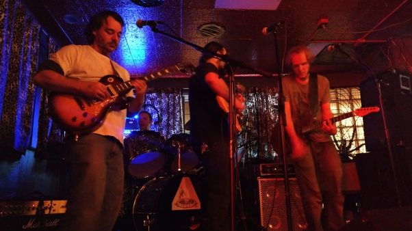Switch Ghost live at the Lion's Lair (left to right: Michael Wright, Joseph Damron, Brandt Garrison, Jasper Niemeyer)